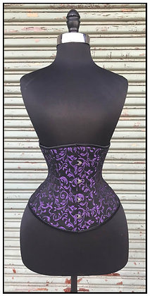 Classic Cincher blk w/purple brocade CLEARANCE