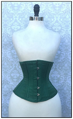 Classic Cincher Green Brocade CLEARANCE