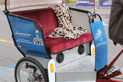 Pedicab wrapped with the Bud Lights graphics for the NFL experience 2015