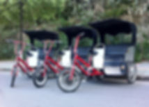 Direct drive electric assist pedicabs