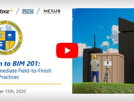 Scan to BIM 201 - Intermediate Field-to-Finish Best Practices
