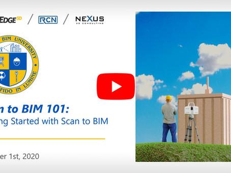 Scan to BIM 101 -