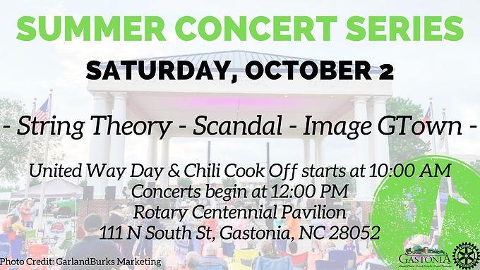 Gastonia's Summer Concert Series