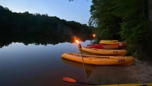 A Moonlight Paddle Makes for a Fun Adventure On the Catawba River