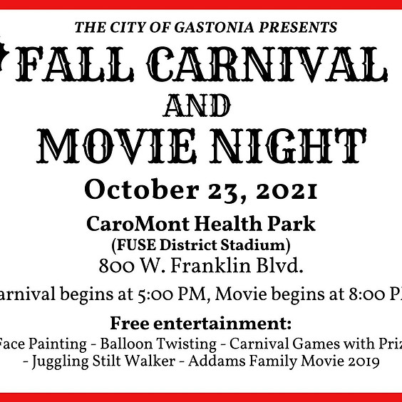 Fall Carnival and Movie Night