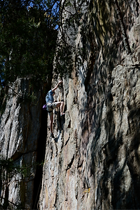 Rock Wall Climbing at Crowders near Char