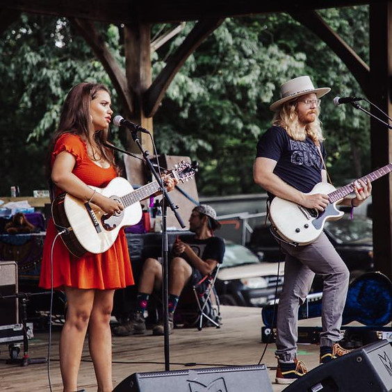 Casey Noel with Mason Keck at Ole Dallas Brewery