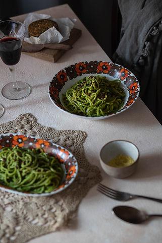 Ensaio Inverno - Espaguete ao Pesto de C