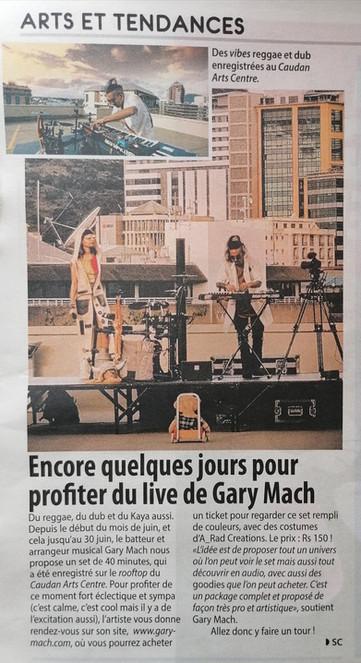 Gary Mach 5-Plus Newspaper
