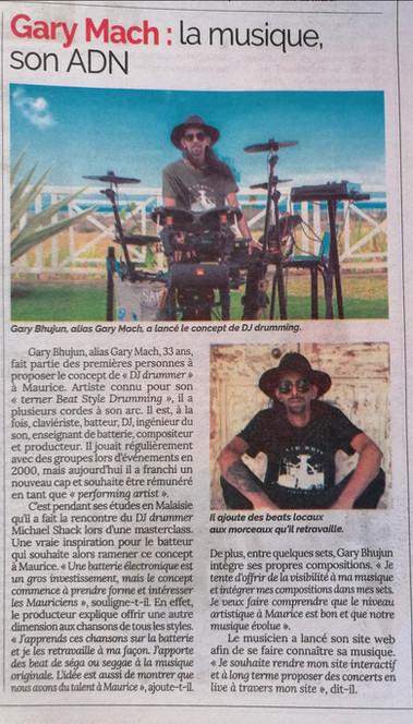 Gary Mach Le Defi Zen Newspaper