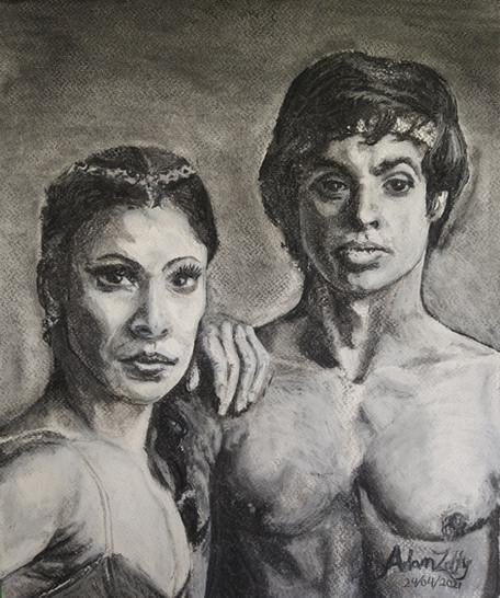 Portrait of Karen Kain and Frank Augustyn in Le Corsaire