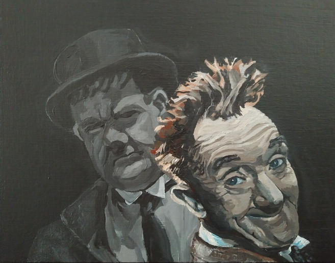 Portrait of Laurel and Hardy (2021)