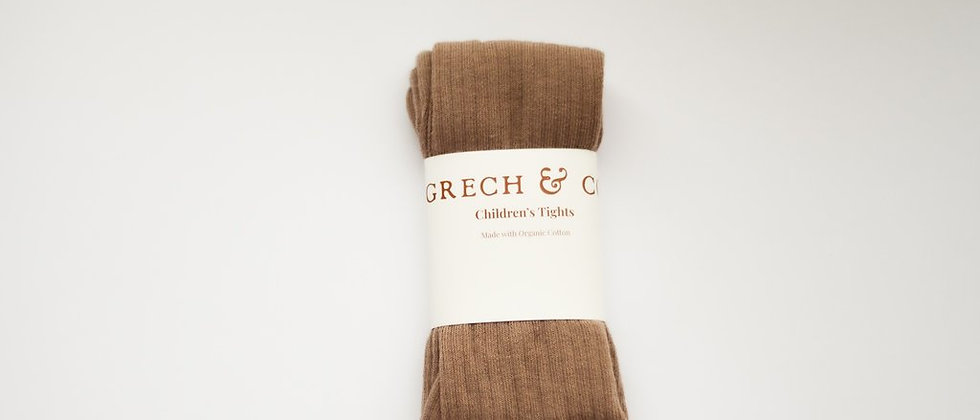 Grech & Co - CHILDREN'S ORGANIC COTTON OVER THE KNEE HIGH SOCKS - STONE