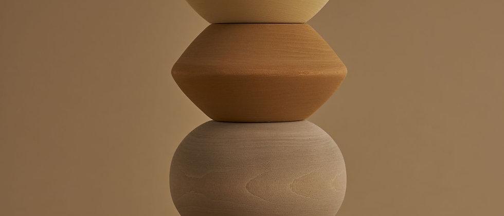 Big ball sculpture stacking tower