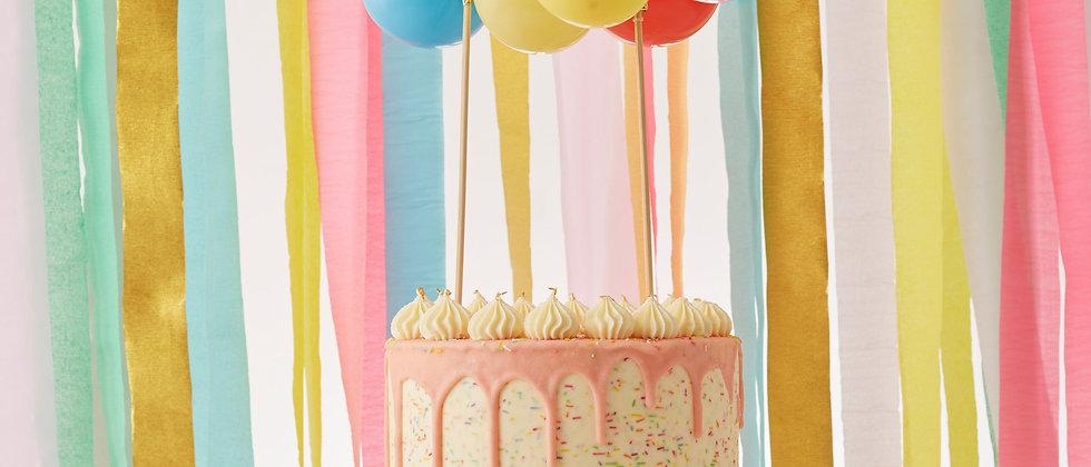 Rainbow Balloon Cake Topper Kit