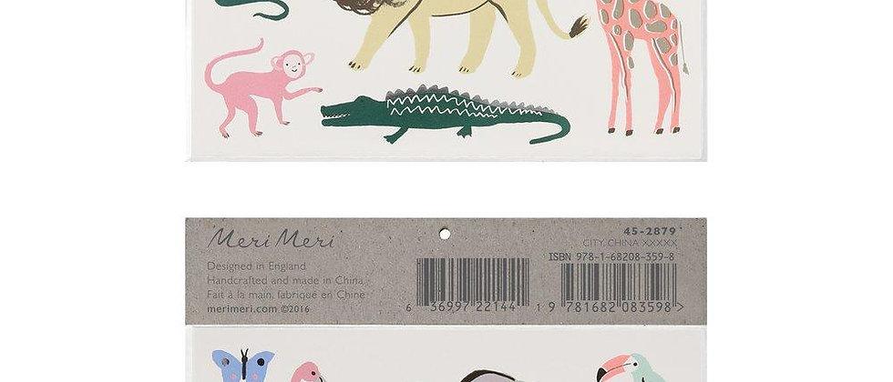 Meri Meri - Safari Trek Large Tattoos