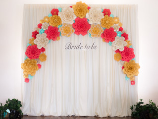 Surprise Paper Flower Wall for the Bride-to-be