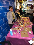 Members of our Torch and Keystone Clubs volunteered to help little ones make a holiday craft at Puttin' on the Glitz.