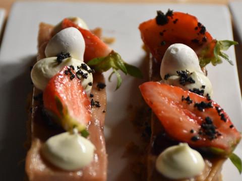 Palets breton, fraises