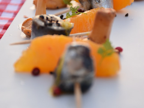 Sardines, girolles