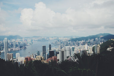 A beautiful of Hong Kong from the Peak