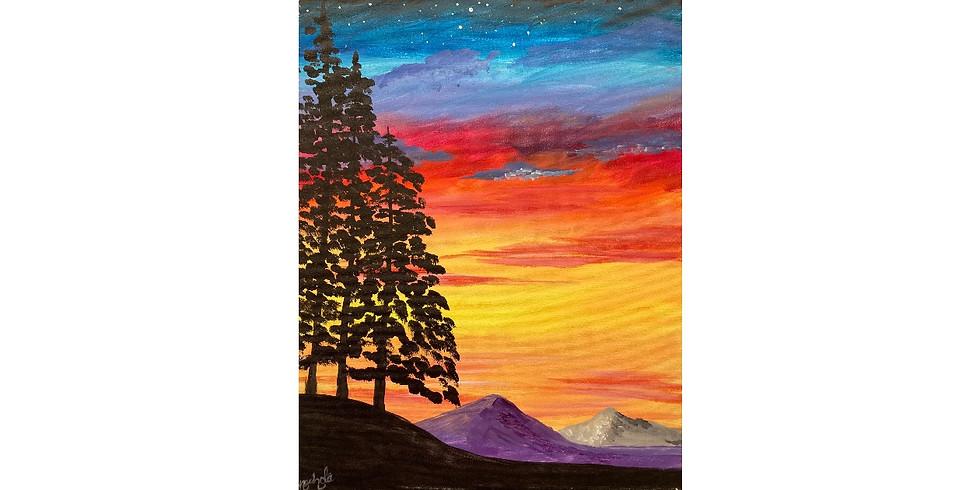 Mountain Sunset - 1/2 off Bottles of Wine