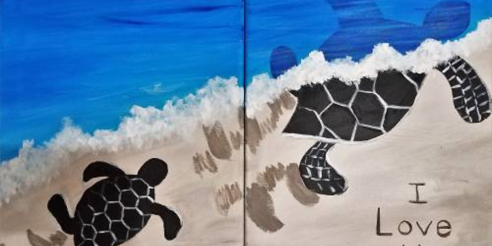 You & Me Turtles ~ COOKIES & CANVAS