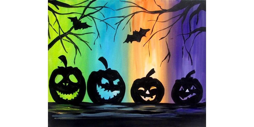 Spooky Pumpkins ~ COOKIES & CANVAS