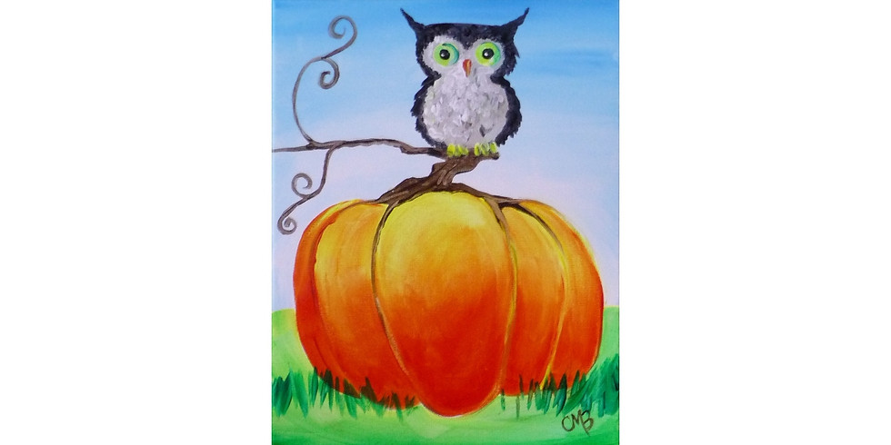Whooos on the Pumpkin ~ COOKIES & CANVAS