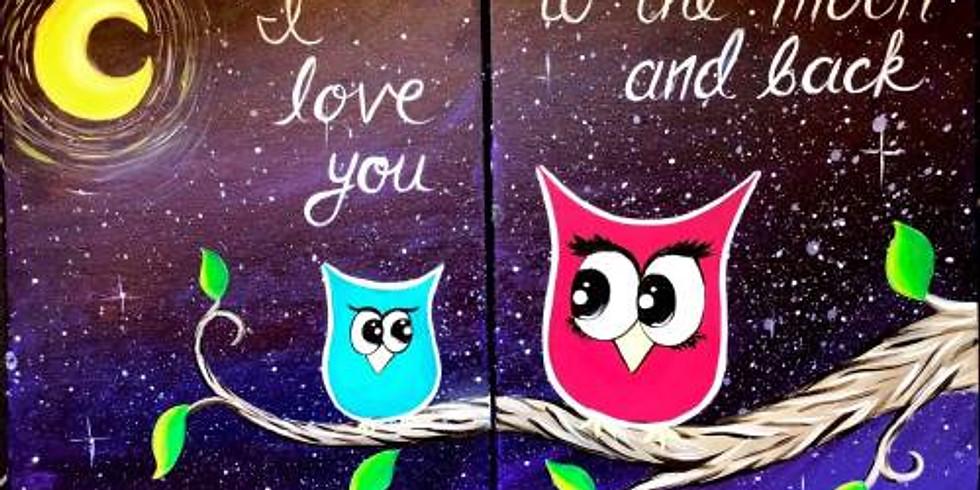You & Me Owls Cookies & Canvas - Portland