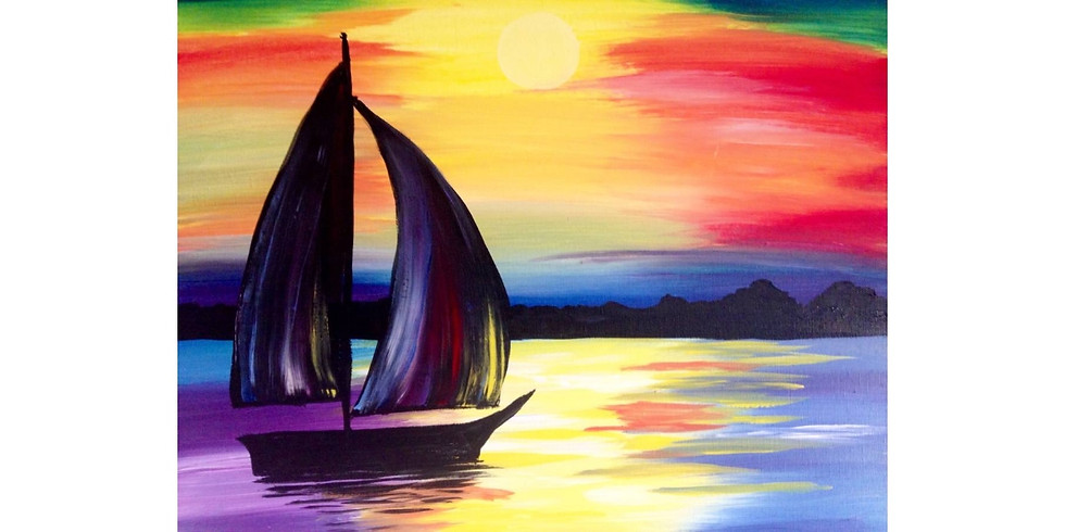 Sunset Sail - Cookies & Canvas  - Greenville