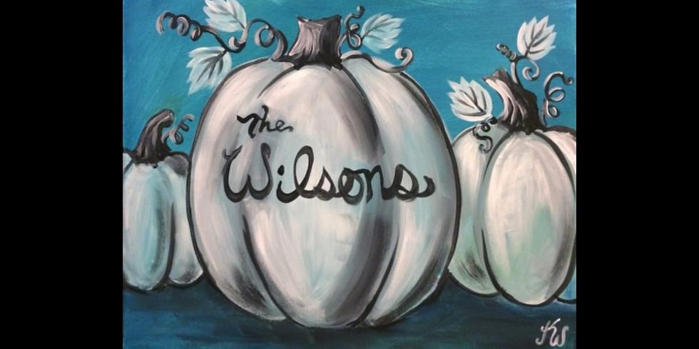 Personalized Pumpkin -JB Whiskey Battle Creek