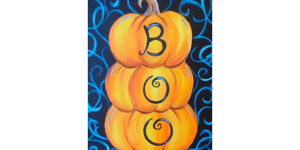 Boo Pumpkins - COOKIES & CANVAS