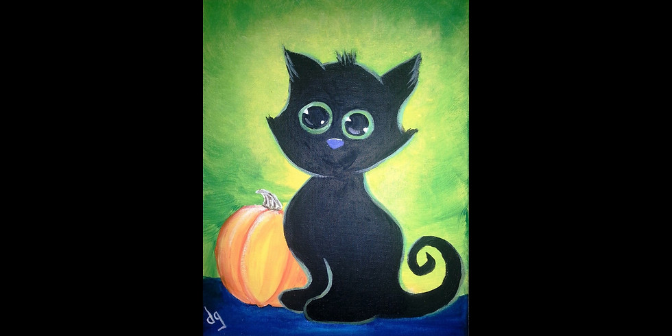 Pumpkin Kitten ~ COOKIES & CANVAS