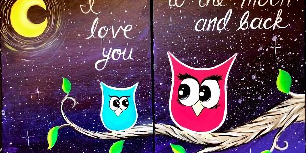 You & Me Owls ~ COOKIES & CANVAS