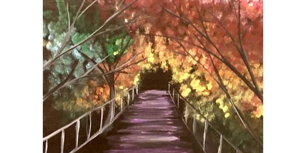 Fall Colors Walkway - 1/2 off Bottles of Wine