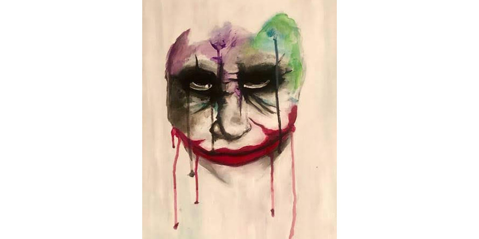 Spooky Dripping Clown - Puff & Paint