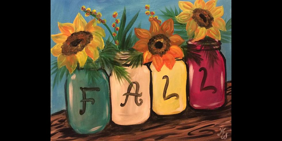 Fall Jars ~ $10 Bottomless Mimosas