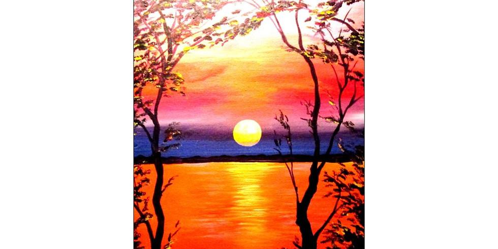 Vivid Sunset - 1/2 off bottles of wine!