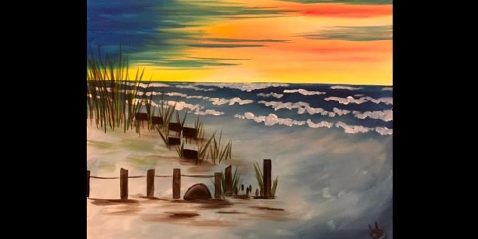 Lake Michigan Sunset - WALKER