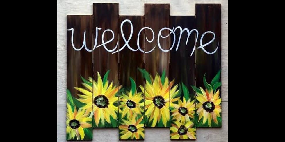 Welcome Sunflowers Pallet - Battle Creek