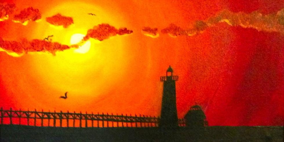 Sunset Pier - 1/2 off bottles of Wine!