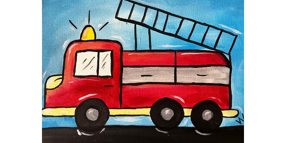 Fire Truck ~ COOKIES & CANVAS