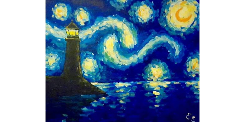Starry Night Lighthouse - Rockford