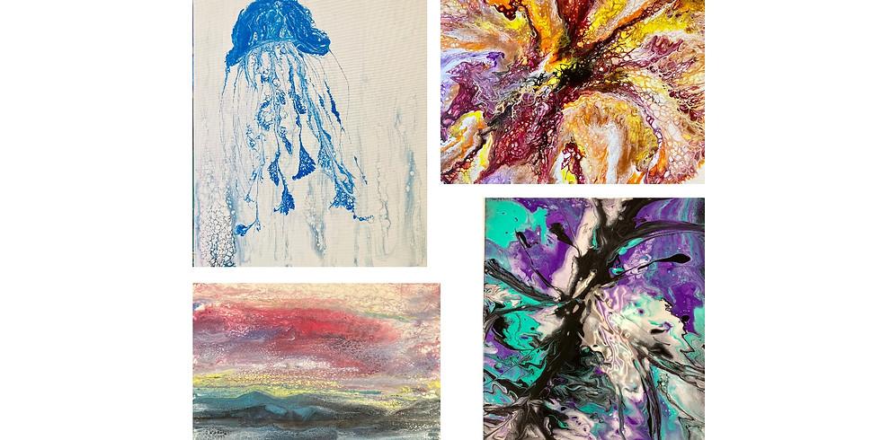 Pour Paint Workshop ~ Recycled Canvas