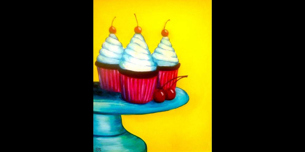 Cherry Cupcakes - Family Class - Open to all ages!