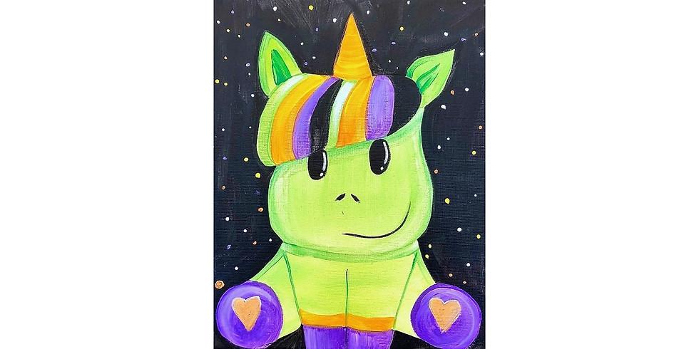 Spooky Unicorn ~ COOKIES & CANVAS