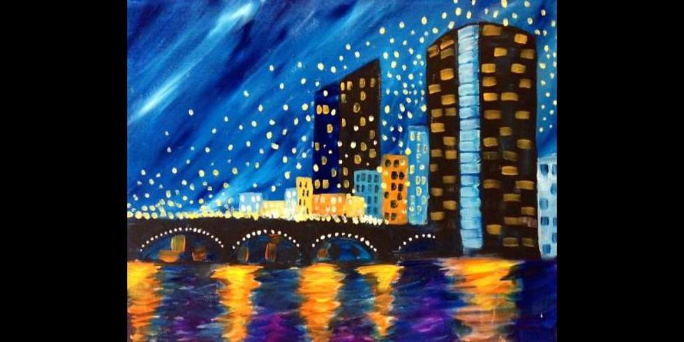 Floating Lights over GR - Old Chicago Kentwood - Special $25