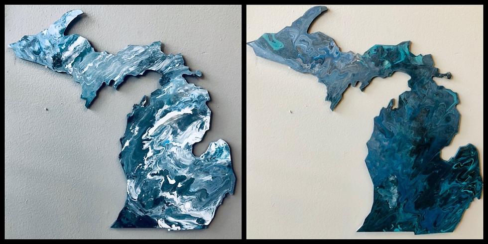 """Pour Paint Workshop -18"""" MI Wood Cut Out"""