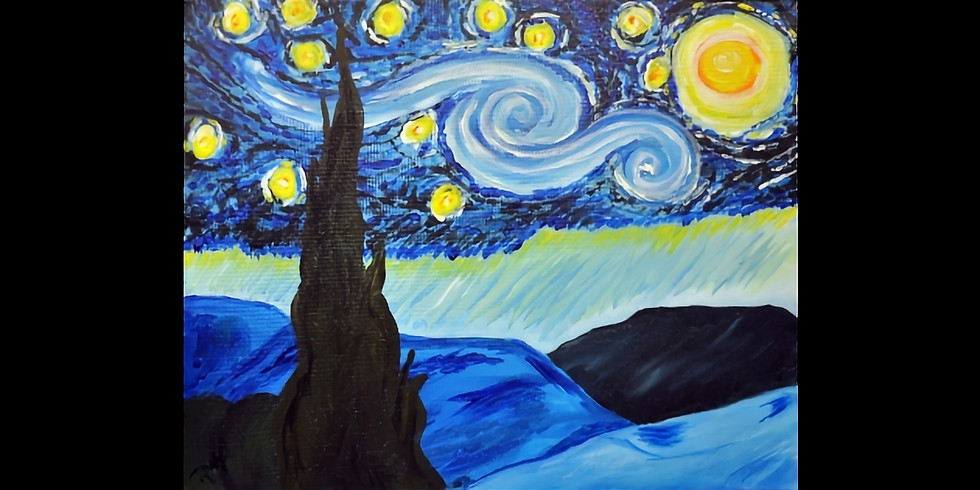 Van Gough Starry Night - 1/2 off bottles of wine!